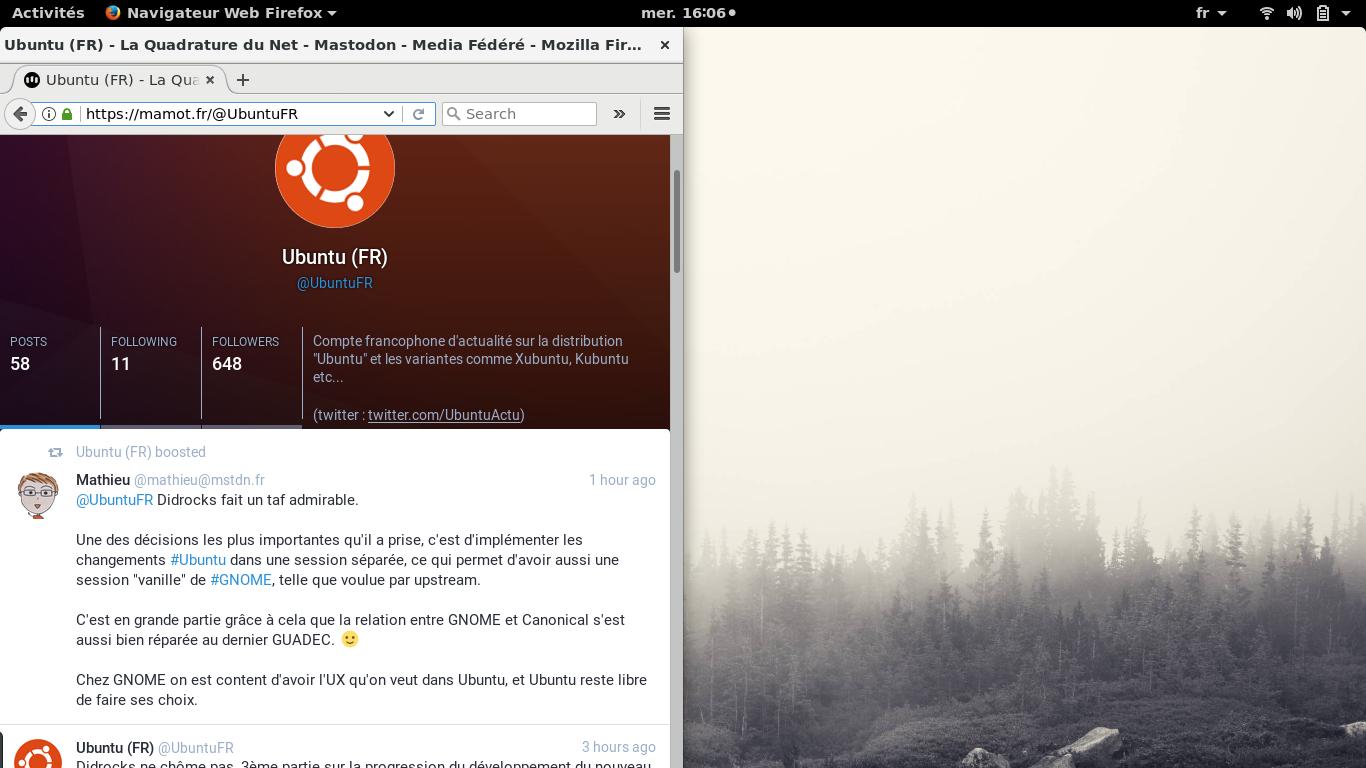 Vanilla upstream GNOME session with correct battery icon