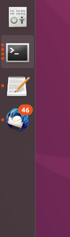 Ubuntu Dock with number of unread emails